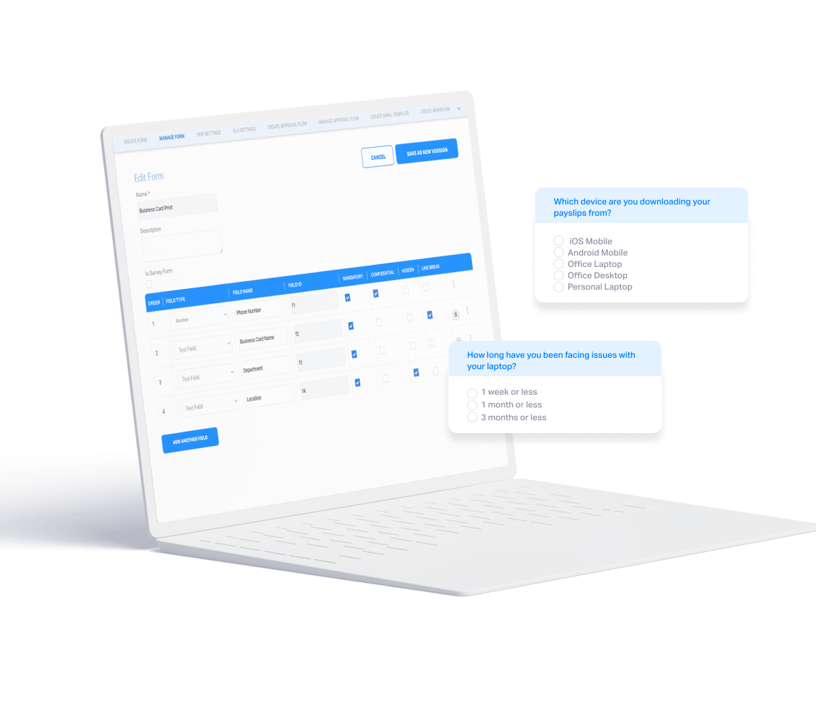 Customizable forms