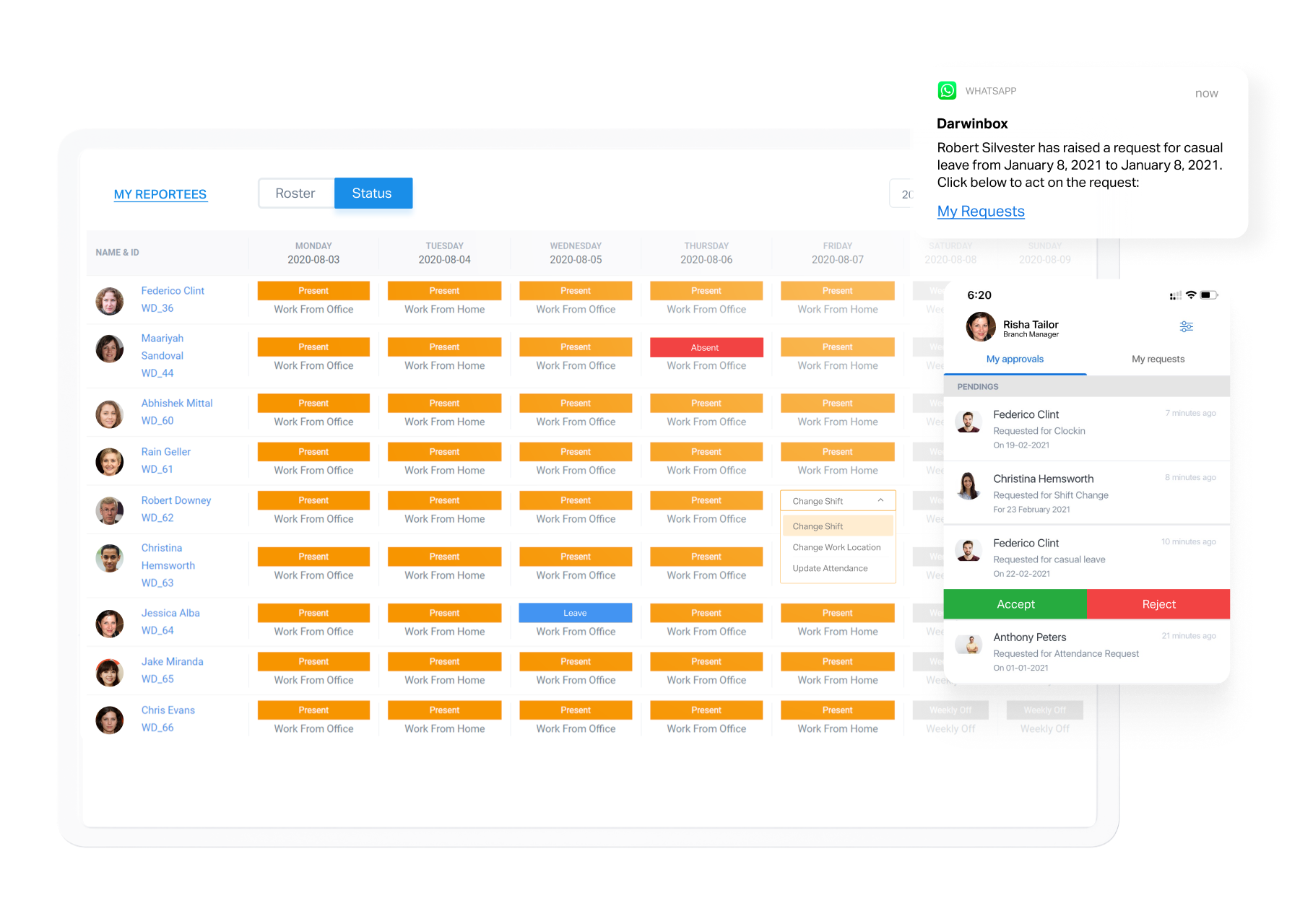 Attendance tracking and notifications